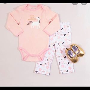Baby Gear- Baby Girl Magical Unicorn 3 pc set NWT